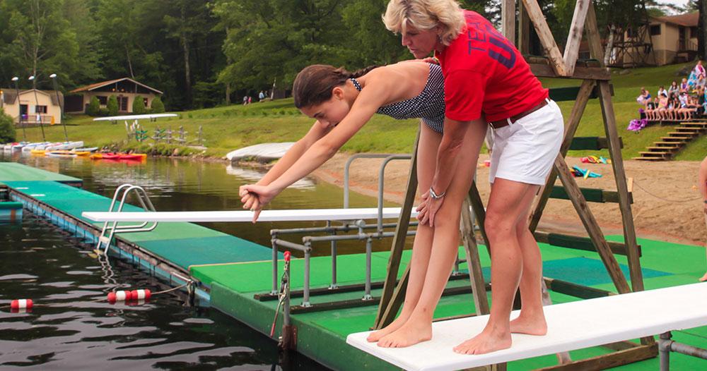 Swimming at Vega with Olympian Mary Ellen Clark