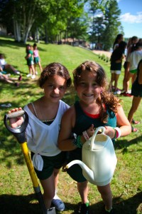 Campers have helped plant blueberry bushes along Echo Lake to help reduce runoff  as part of Green Care Day since 2012 in partnership with the Kennebec Land Trust