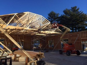 The roof goes up!