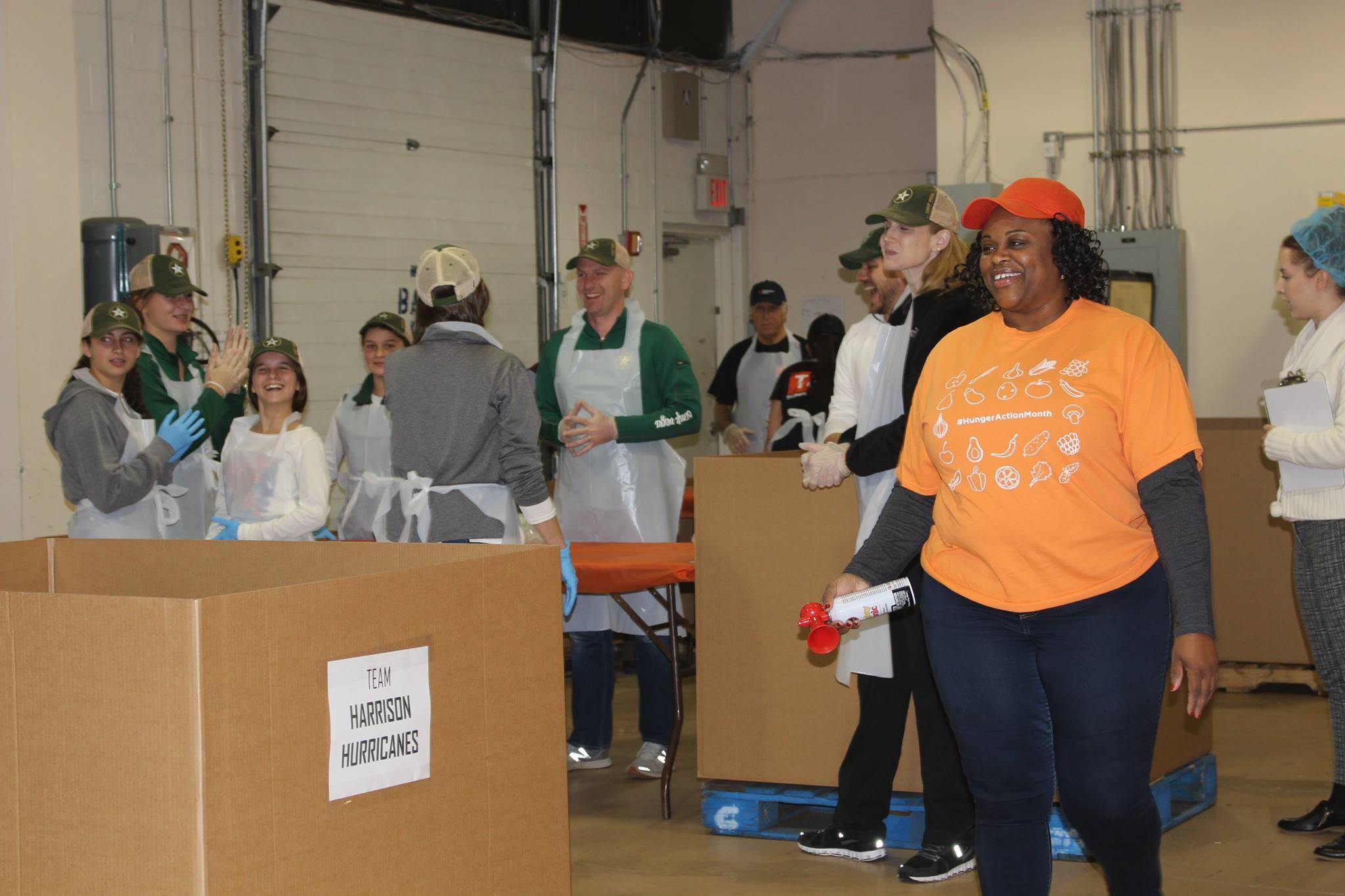 Team Camp Vega at Food bank for Westchester